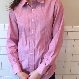 Tops - Red collar long sleeve shirt